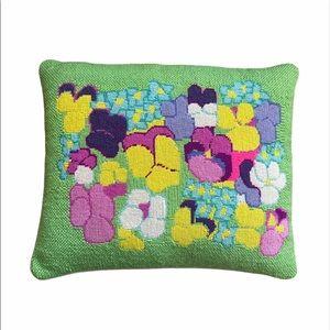 Vintage Needlepoint Vibrant Hippie Pillow